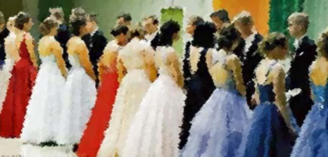 Kurs i menuett som dansas på De Gamlas Dag